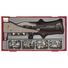 Srieginių kniedžių kniediklis su kniedėmis rinkinys 81 dalies Teng Tools TTNR81