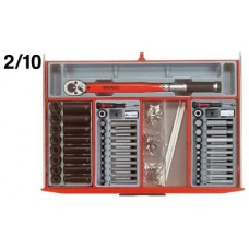 3 dalių vežimėlis su įrankiais Teng Tools TCMM715N (715 dalių)