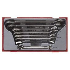 8 dalių U formos žiedinių reketinių raktų rinkinys Teng Tools TT6508R / TT6508RAF