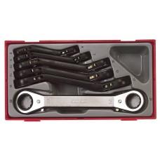 6 dalių Reketinių žiedinių raktų rinkinys Teng Tools TTRORS