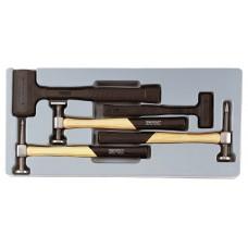 Tiesinimo plaktukų rinkinys 5 dalių Teng Tools TTPSAD