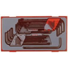 L-formos šešiakampių/TX raktų rinkinys 28 dalių Teng Tools TTHT28