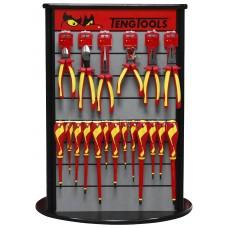 Replių ir atsuktuvų  Izoliuotų 1000V rinkinys su stovu Teng Tools