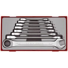 8 dalių U formos žiedinių reketinių raktų rinkinys Teng Tools TT6508RS