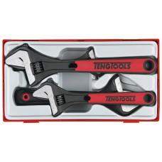 4 dalių Skečiamųjų veržliarakčių rinkinys Teng Tools TTADJ04