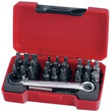 Antgaliai su terkšliniu 1/4 HEX tipo fiksatoriumi raktu rinkinyts Teng Tools TM029