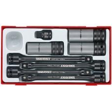 Smūginių galvučių su prailginutvais rinkinys 8 dalių Teng Tools TTTS08