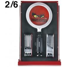 3 dalių vežimėlis su įrankiais Teng Tools TCMM1055N (1055 dalių)