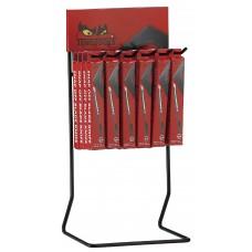 Peiliai su laužomomis geležtėmis stove DIS-710A Teng Tools (9MM)