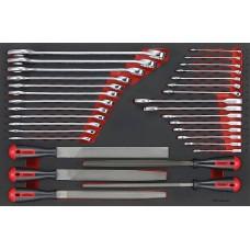 32 dalių Raktų/dildžių rinkinys Teng Tools TTEX32