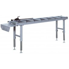 Roller conveyor for cold band saw and cutting machine