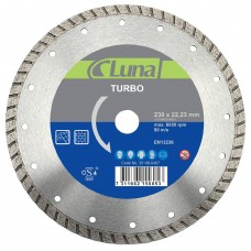 Deimantinis pjovimo diskas Turbo Luna  230X7X2,6X22