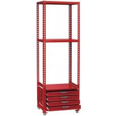 Sekcija su 3 lentynomis ir stalčių skyriumi. Teng Tools RSK0700A / RSK1350A