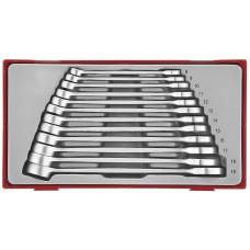 12 dalių Kombinuotų veržliarakčių rinkinys su anti-slip sistema Teng Tools TT8012