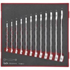 Kombinuotų veržliarakčių rinkinys 12 dalių. Teng Tools TED8012