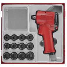 Veržliasukis Mini 1/2  fiksatoriumi  Teng Tools ARWM12M Su galvutėmis