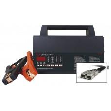 Akumuliatorių tikriklis su spausdintuvu