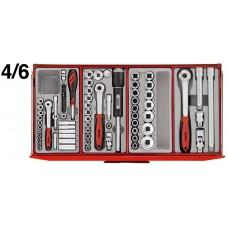 Įrankių vežimėlio viršutinė dėžė su įrankiais 140 dalių Teng Tools TC8131NF