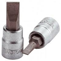 Galvutes Lizdiniai atsuktuvu antgaliai Tengtools - Teng Tools Tiesiems grioveliams.Atsuktuvo galvutė Teng Tools su 1/4  keturkampiu fiksatoriumi.  5,5 mm - Teng Tools Tiesiems grioveliams.