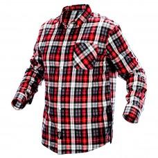 Flaneliniai vyriški marškiniai, raudonai-juodai-balti