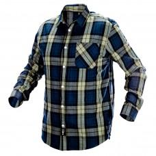 Flaneliniai vyriški marškiniai, tamsiai mėlynos, alyvinės ir juodos spalvos