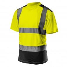 Didelio matomumo marškinėliai, tamsi apačia, geltonos spalvos