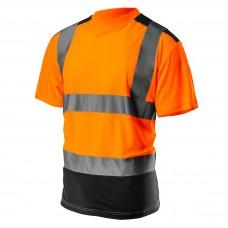 Didelio matomumo marškinėliai, tamsi apačia, oranžinės spalvos