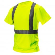 Didelio matomumo marškinėliai, geltonos spalvos