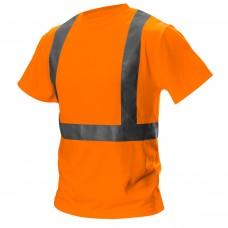 Didelio matomumo marškinėliai,  oranžinės spalvos