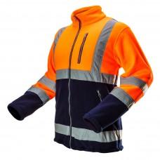 Didelio matomumo Džemperis iš poliarinio fliso audinio, oranžinės spalvos, dydisL