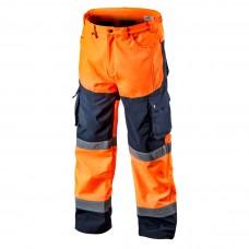 Didelio matomumo darbinės kelnės, šiltos oranžinės spalvos