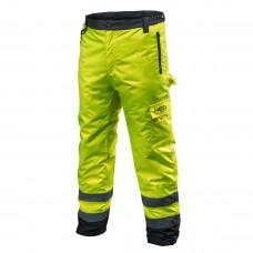 Didelio matomumo darbinės kelnės, šiltos darbo kelnės su pamušalu geltonos spalvos