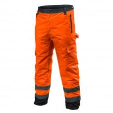 Didelio matomumo darbinės kelnės, šiltos darbo kelnės su pamušalu oranžinės spalvos