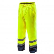 Didelio matomumo darbinės kelnės, atsparios vandeniui, geltonos spalvos