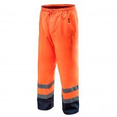 Didelio matomumo darbinės kelnės, atsparios vandeniui, oranžinės spalvos