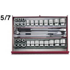 3 dalių vežimėlis su įrankiais Teng Tools TCMM600 (600 dalių)