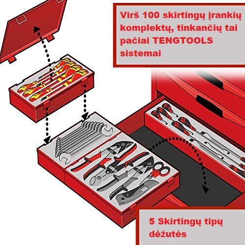 TENGTOOLS įrankių dėžutės į stalčius